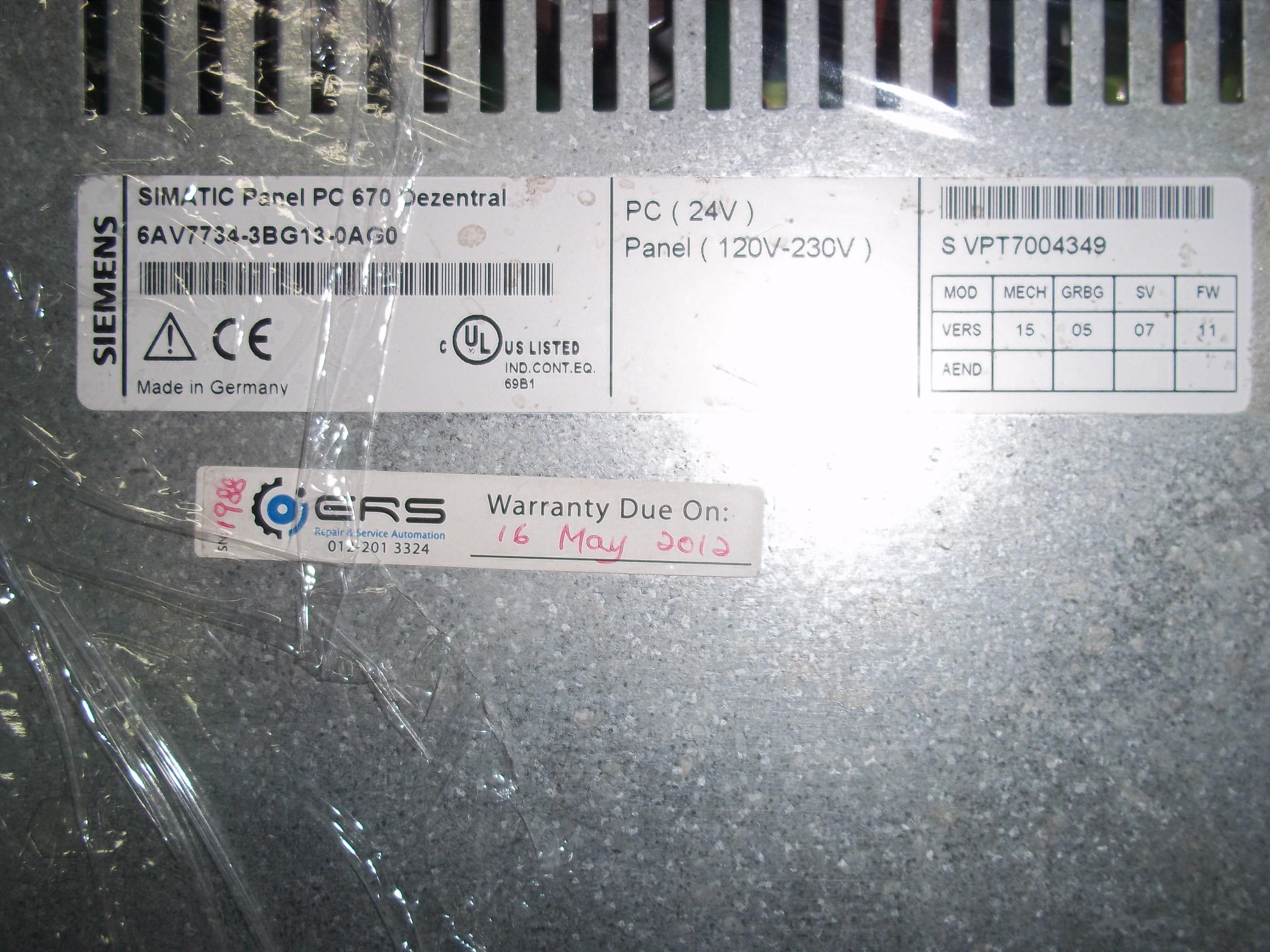 Repair ADS SCADAR  SIEMENS SIMATIC PANEL PC  in Malaysia, Singapore, Thailand, Indonesia