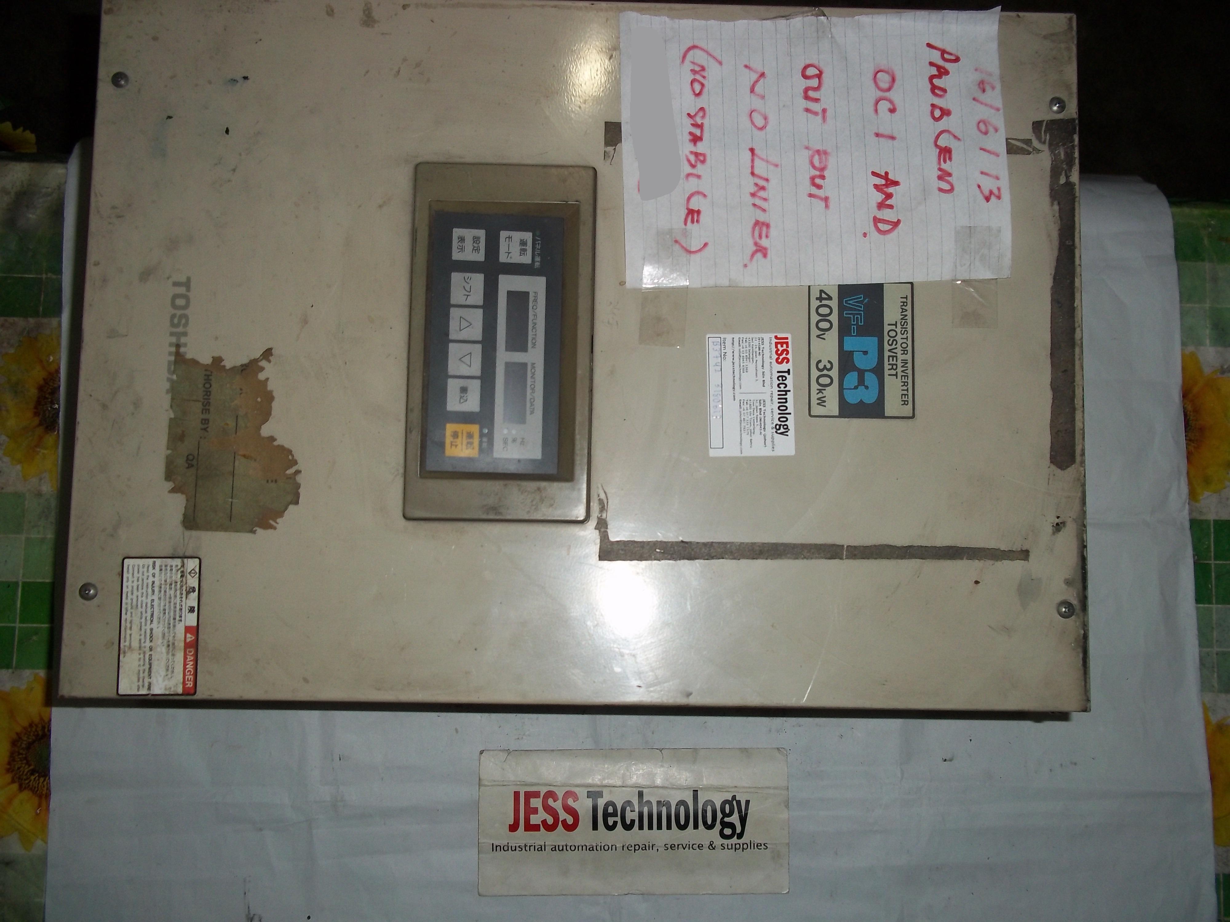 Repair VFP3-4300P TOSVERT  TRANSISTOR INVERTER TOSVERT in Malaysia, Singapore, Thailand, Indonesia