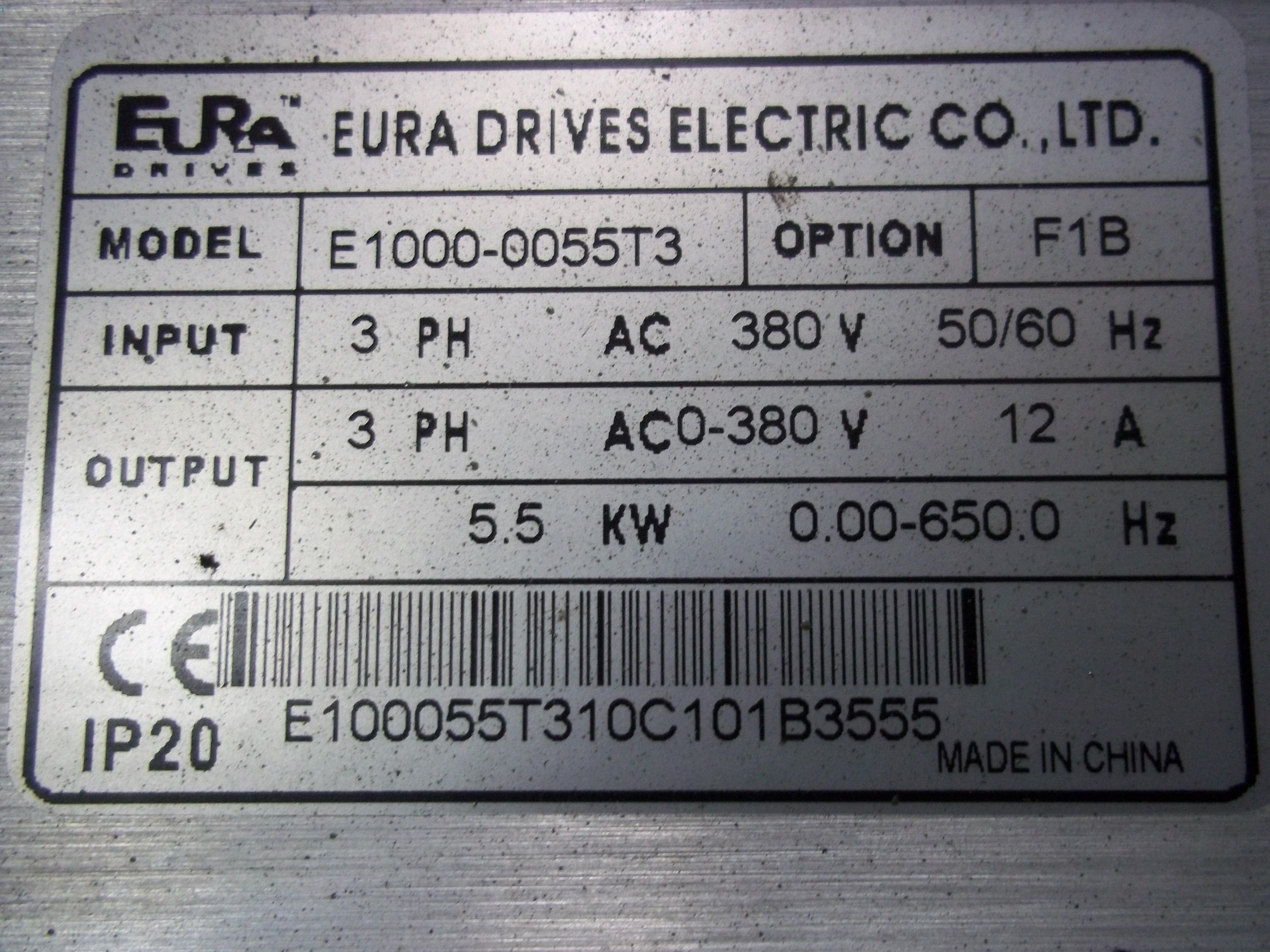 Repair E1000-0055T3 EURA  EURA DRIVE in Malaysia, Singapore, Thailand, Indonesia