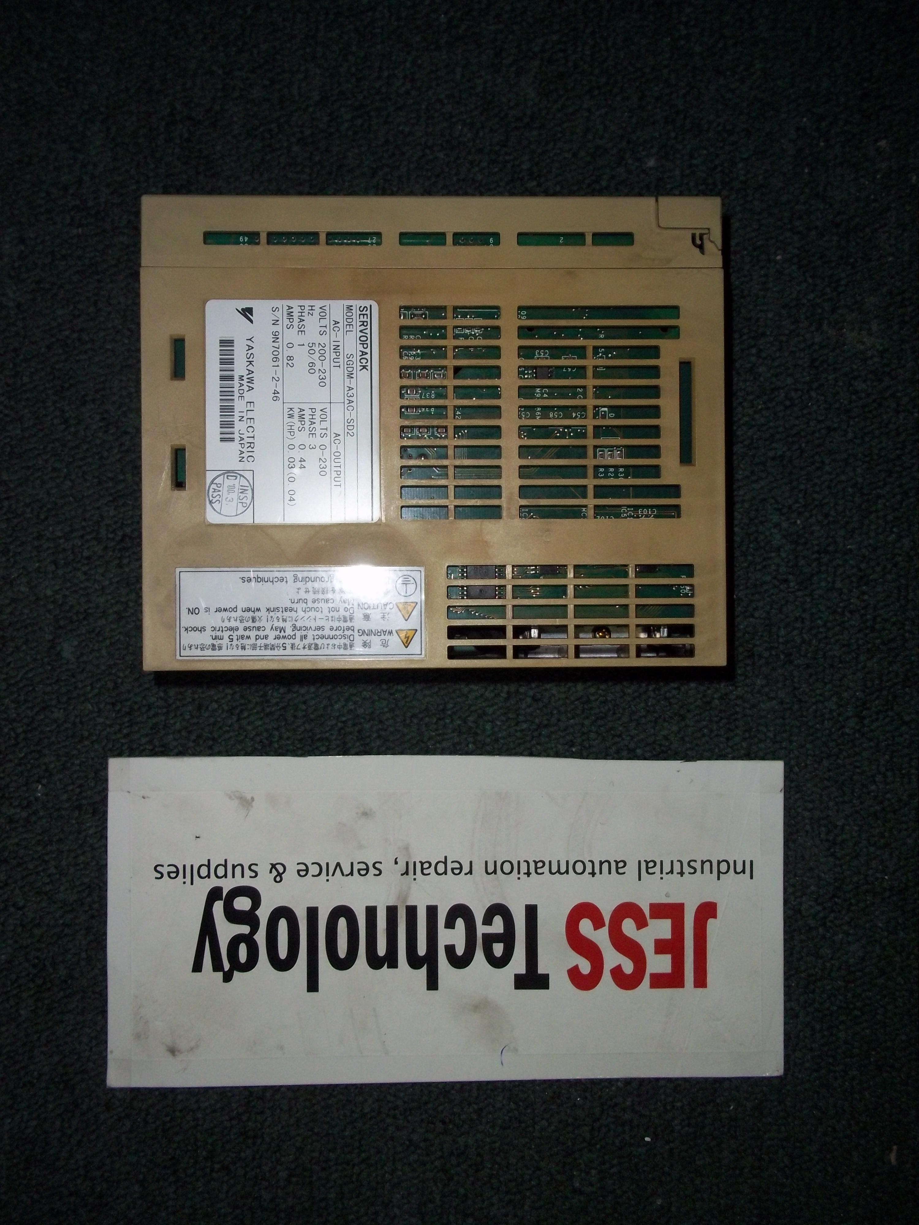 Repair SGDM-A3AC-SD2 YASKAWA  YASKAWA SERVOPACK in Malaysia, Singapore, Thailand, Indonesia