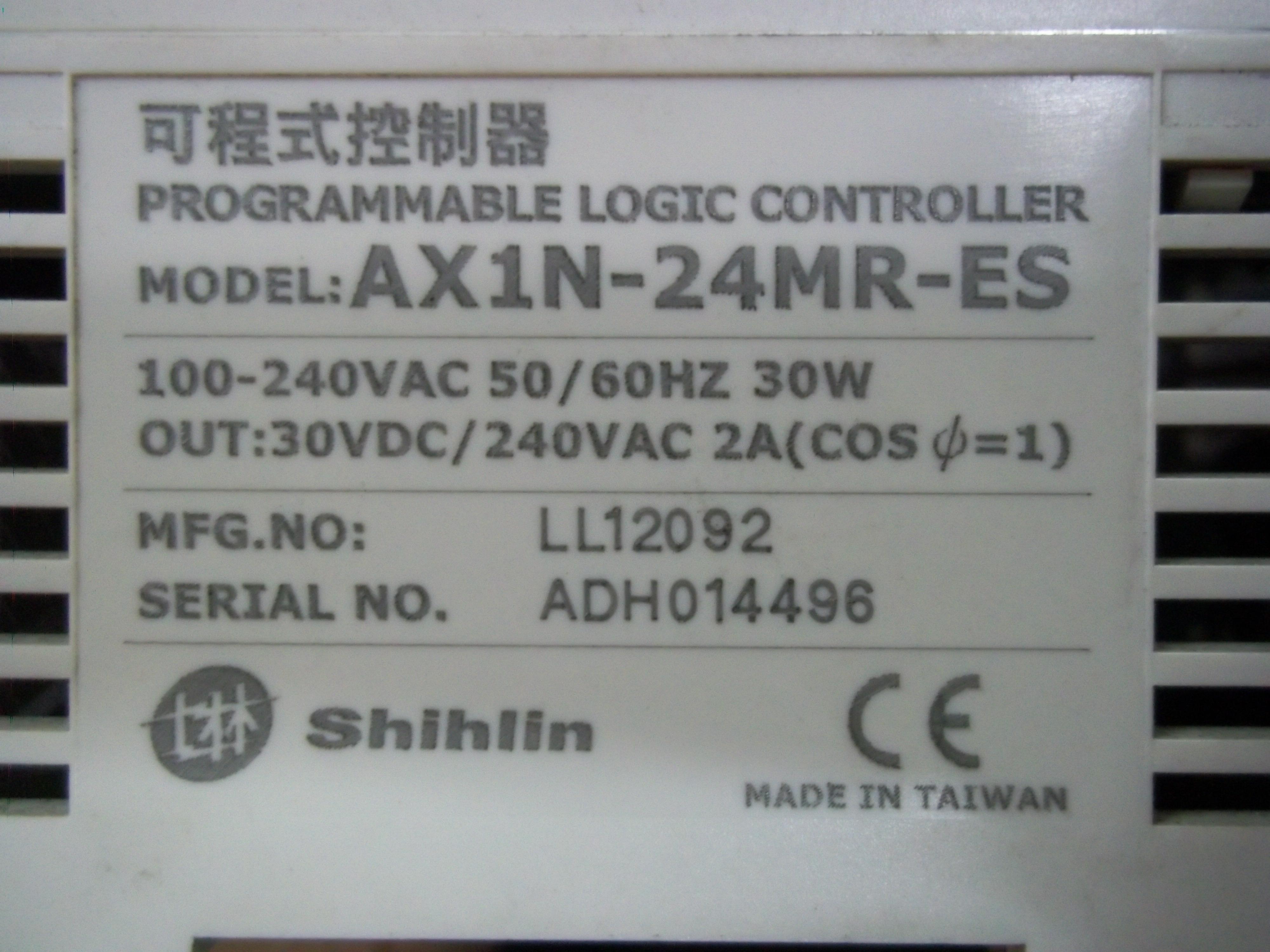 Repair AX1N-24MR-ES SHIHLIN  SHIHLIN PLC in Malaysia, Singapore, Thailand, Indonesia