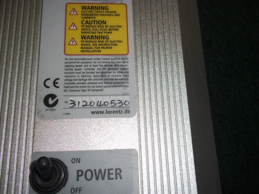 Jess Repair Lorentz Lorentz Solar Pump System Ps1800 In