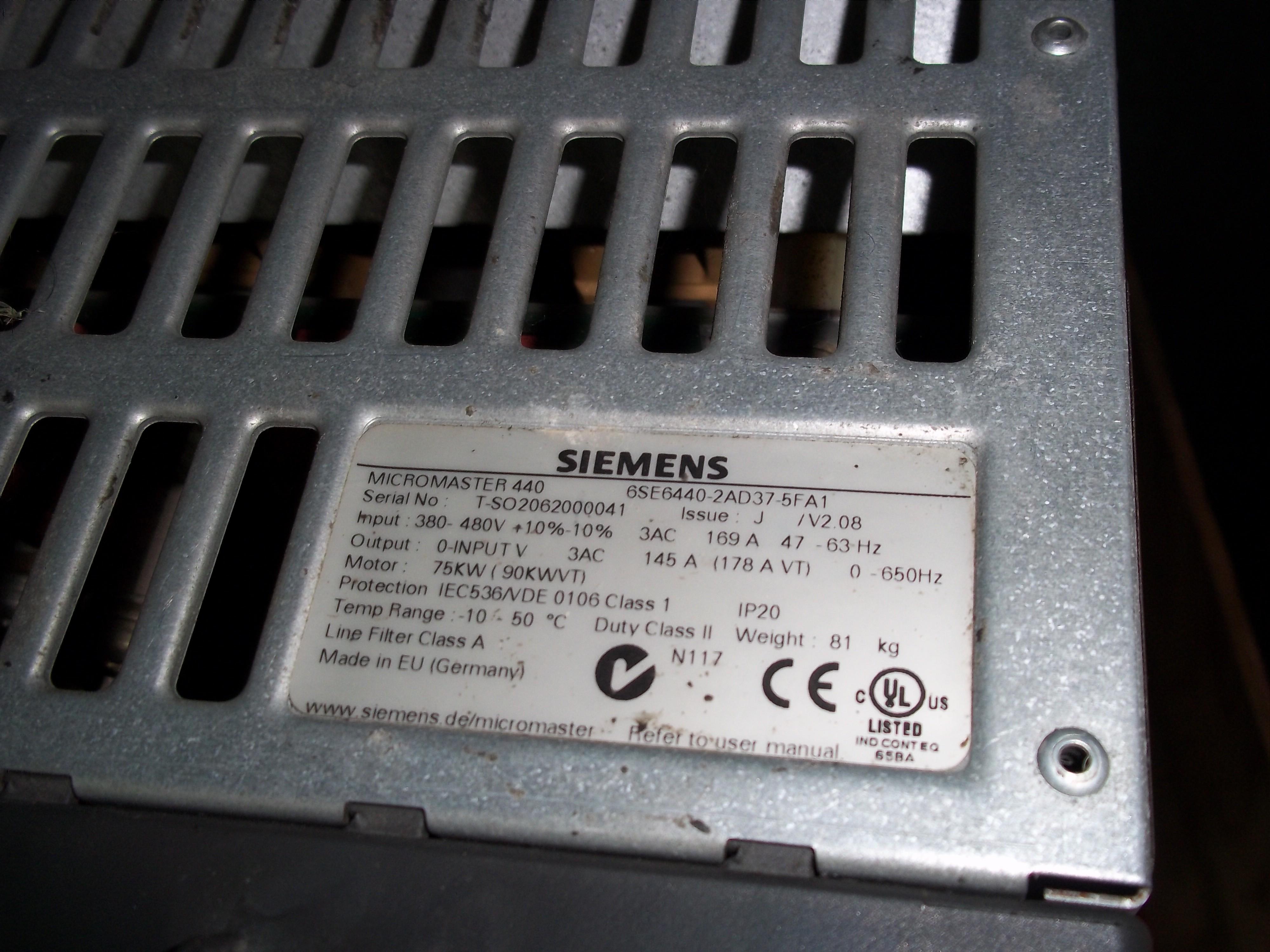Repair 6SE6440-2AD37-5FA1 SIEMENS SIEMENS MICROMASTER 440 in Malaysia, Singapore, Thailand, Indonesia