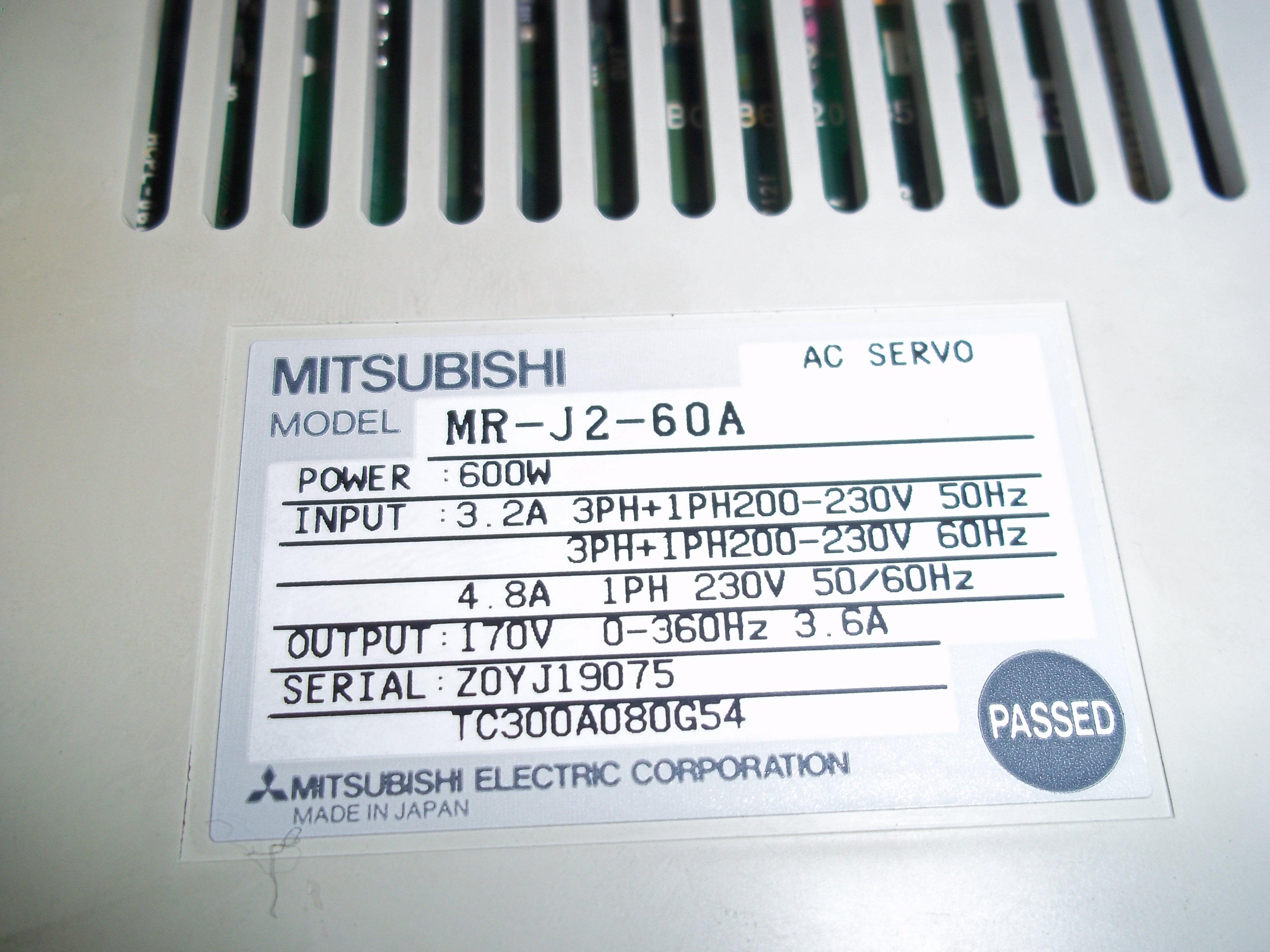 Repair MR-J2-60A MITSUBISHI MITSUBISHI AC SERVO in Malaysia, Singapore, Thailand, Indonesia