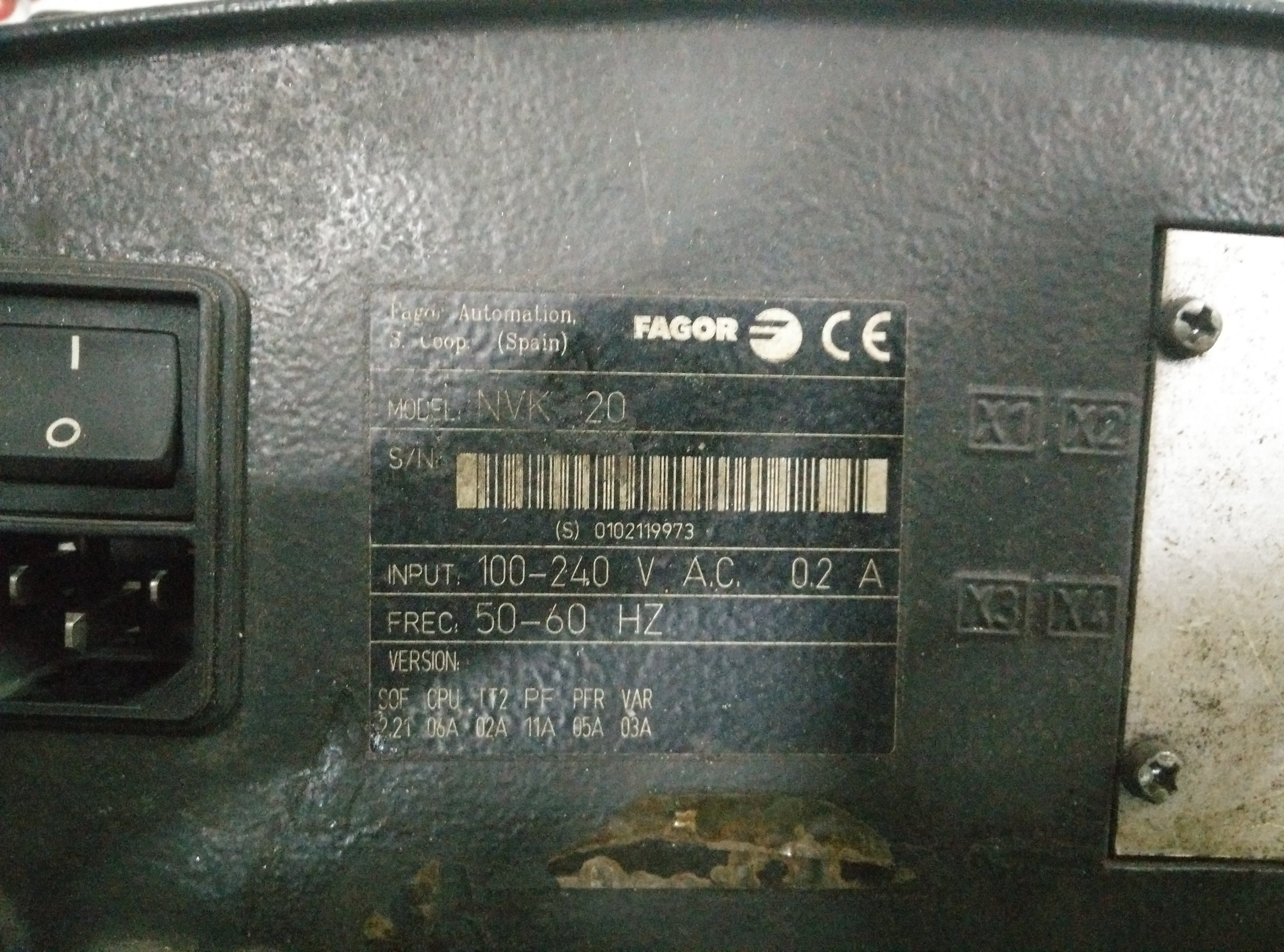 Repair NVK20  FAGOR FAGOR in Malaysia, Singapore, Thailand, Indonesia