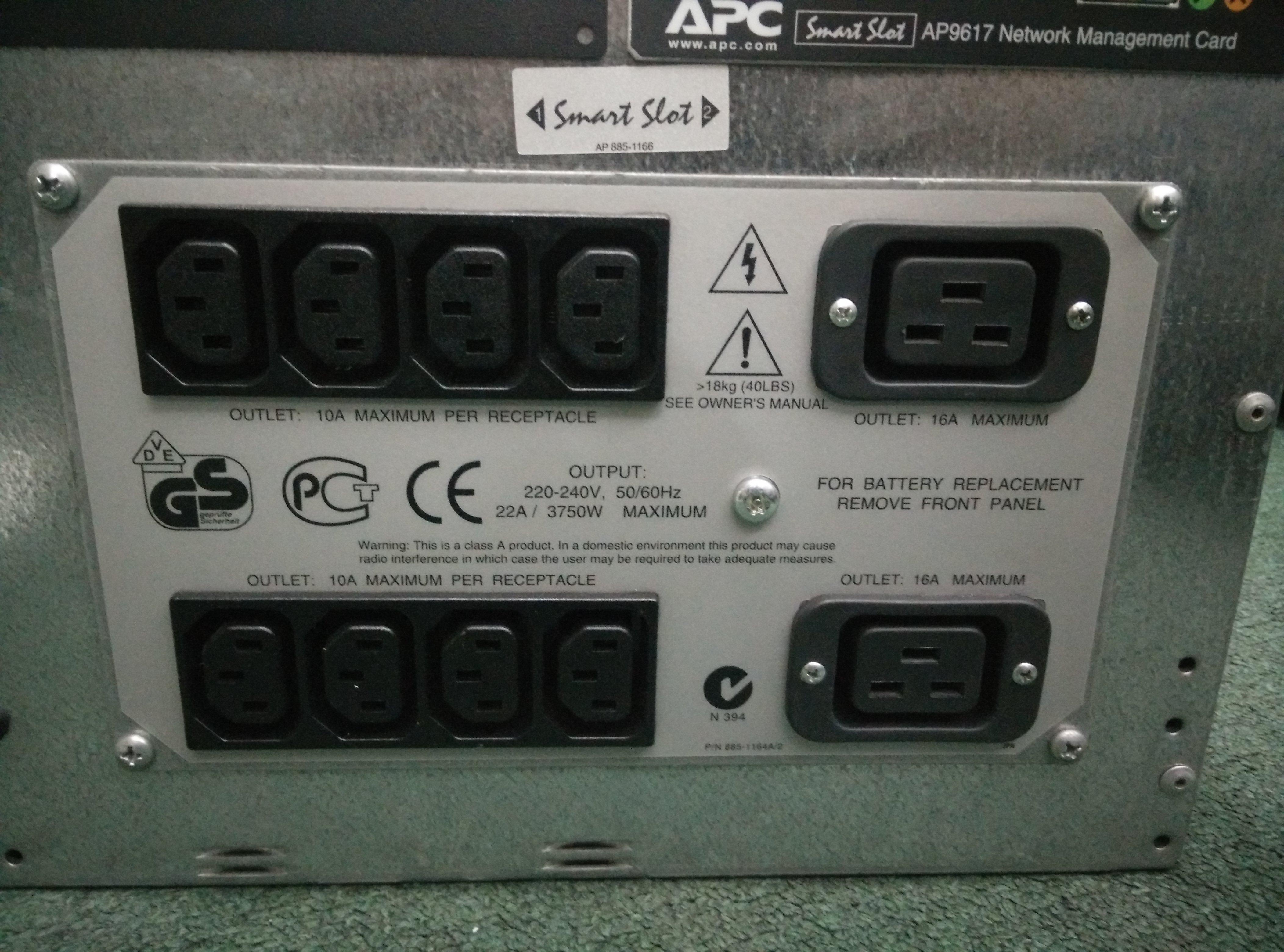 JESS | Repair APC APC UPS SMART UPS 5000 in Malaysia, Singapore
