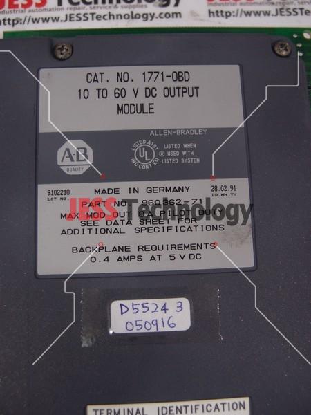 Repair ALLEN-BRADLEY 1771-0BD ALLEN BRADLEY DC OUTPUT MODULE in Malaysia, Singapore, Thailand, Indonesia