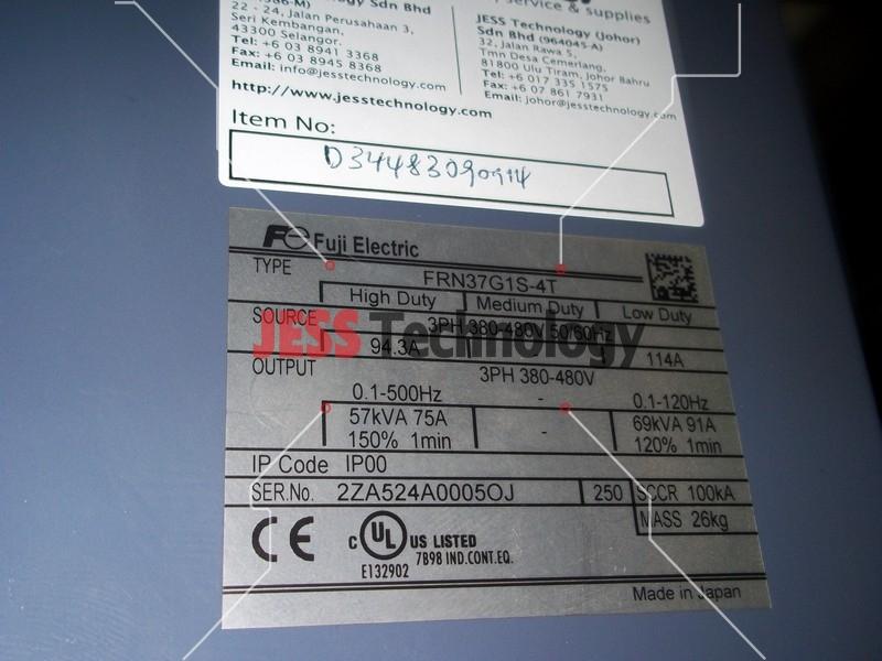 Repair FUJI FRN37G1S-4T FUJI ELECTRIC INVERTER in Malaysia, Singapore, Thailand, Indonesia