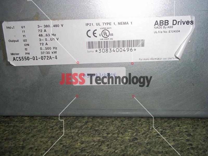 Repair ABB ACS550-01-072A-4 INVERTER in Malaysia, Singapore, Thailand, Indonesia