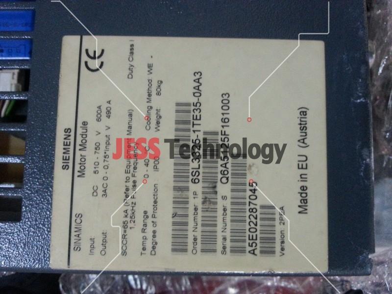 Repair SIEMENS A5E02287045 SIEMENS SINAMATICS MOTOR MODULE 6SL3325-1TE35-0AA3 in Malaysia, Singapore, Thailand, Indonesia