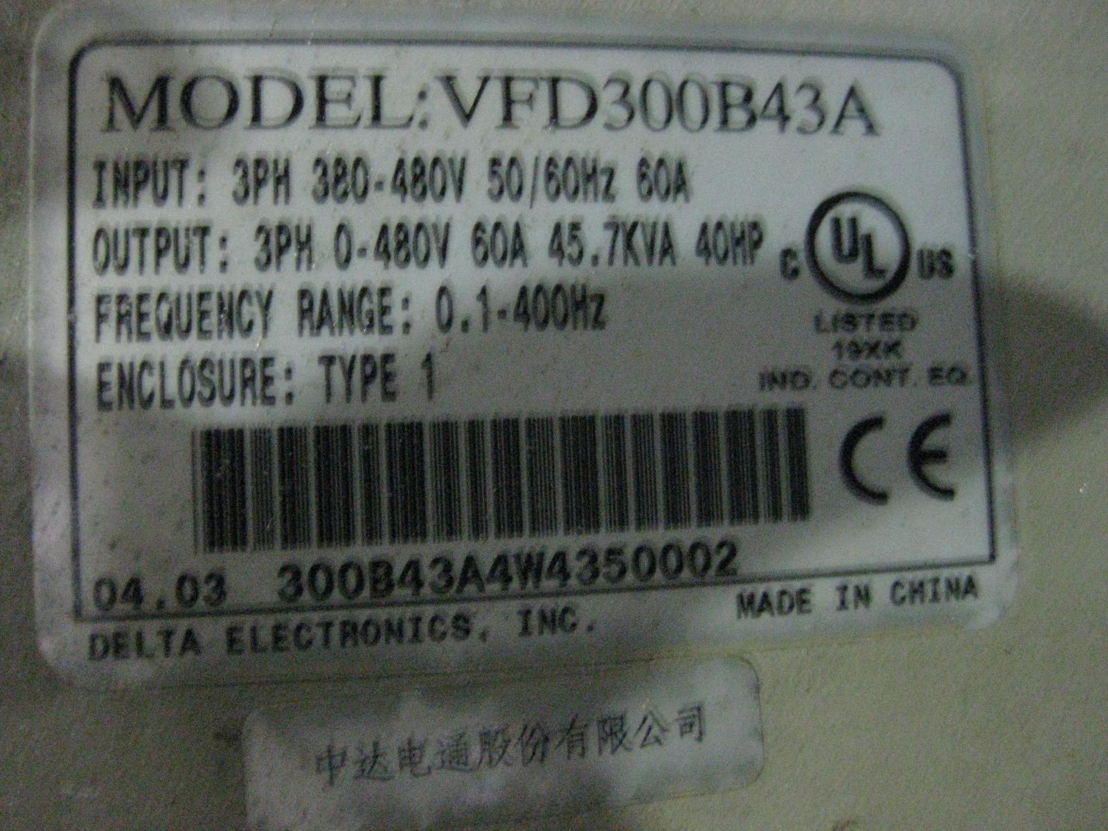 Repair DELTA VFD300B43A INVERTER in Malaysia, Singapore, Thailand, Indonesia